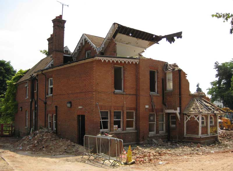 Dorset House being demolished, 2 June 2009