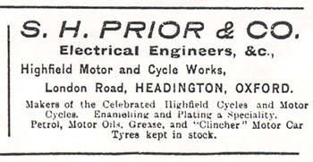 1911 advertisement for Prior