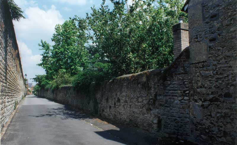 Monkton Cottage: boundary wall to the Croft