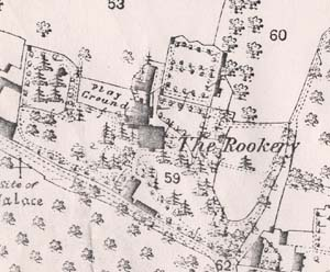 1876 map showing Rookery