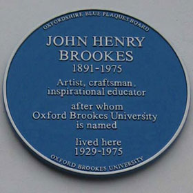 Plaque to J.H. Brookes