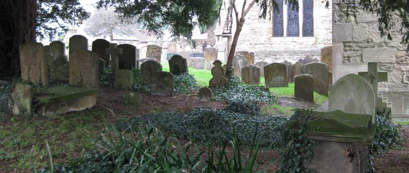 Graves at St Andrew's churchyard