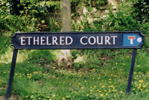 Ethelred Court sign