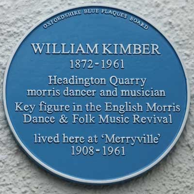 Blue plaque to William Kimber