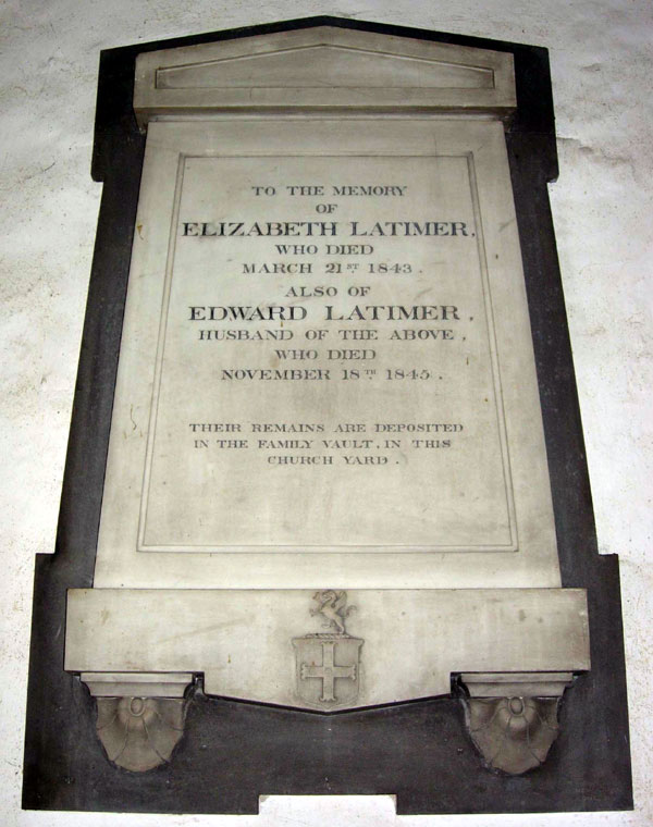 Latimer plaque