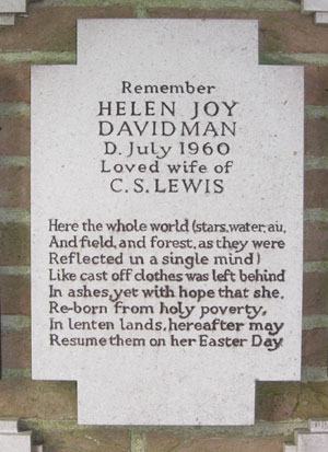 Memorial to Joy Davidman