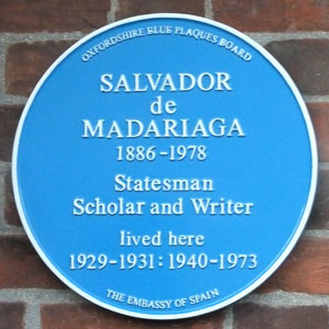 Plaque to de Madariaga