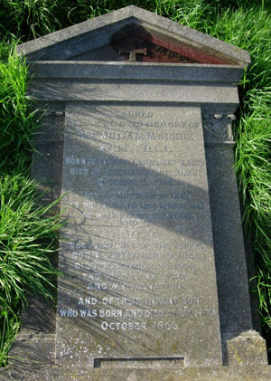 Grave of Sir William Markby