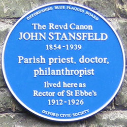 Blue plaque to Stansfeld