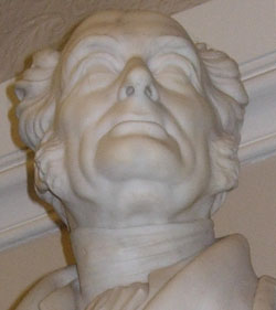 Head of Warneford's statue
