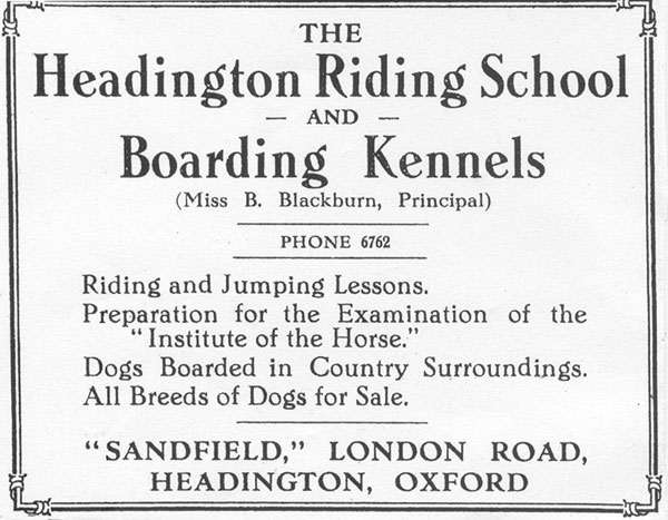 Riding School and Boarding Kennels