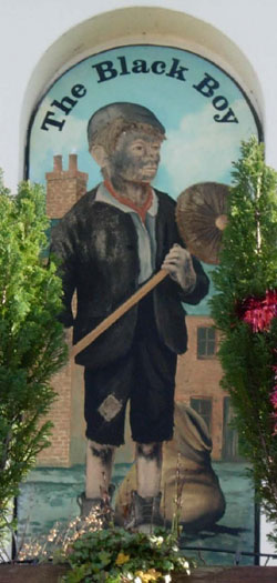 The chimney sweep sign