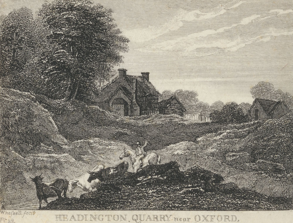 Engraving of a quarry in 1820