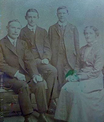 Maternal grandparents with sons