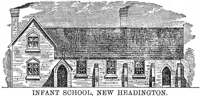 Architect's drawing of New Headington Infant School