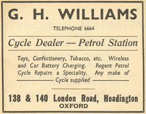 G.H. Williams advertisement, 1936