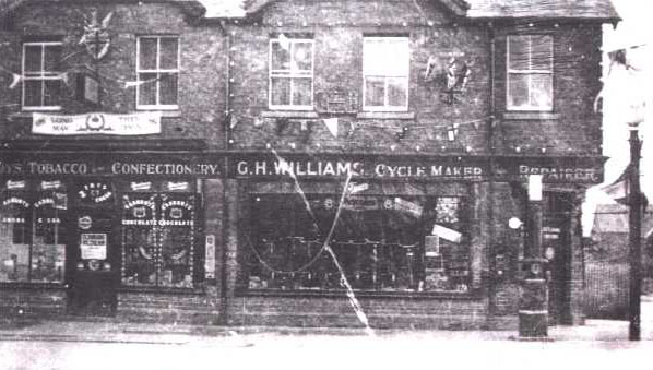 G.H. Williams shop in 1937