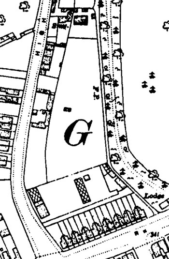 Map of supermarket site in 1921