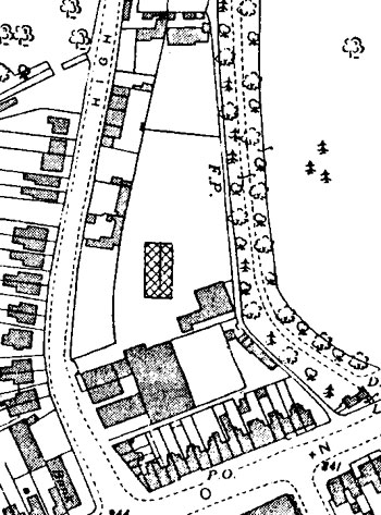 Map of supermarket site in 1939