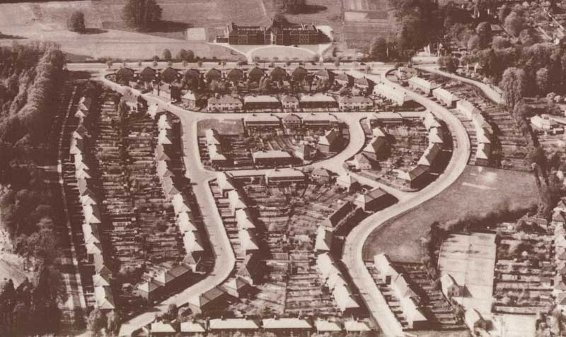 Aerial view of Gipsy Lane estate