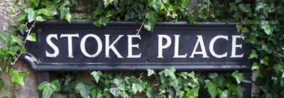 Stoke Place sign