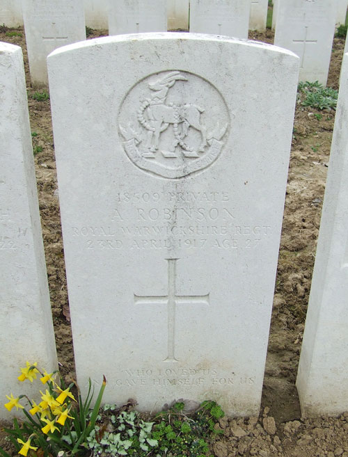 Alfred Robinson's grave in France