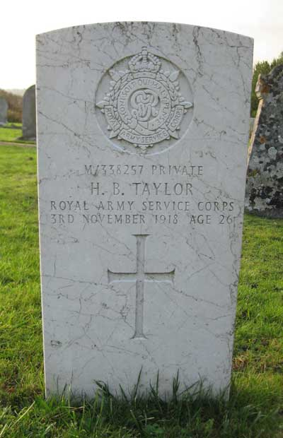 Grave of Harold Taylor